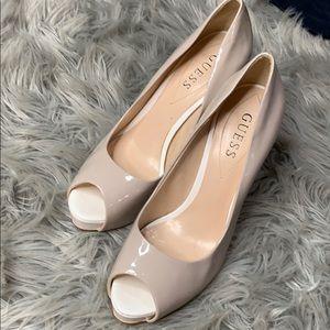 Guess beige heels size 7.5